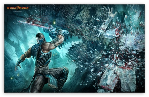 Download Mortal Kombat 9 Sub Zero UltraHD Wallpaper