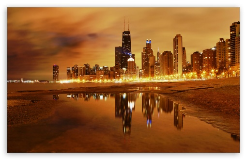 Download Chicago Late Evening UltraHD Wallpaper