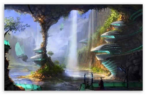 Download Cave City UltraHD Wallpaper
