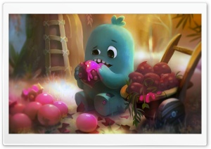 Little Monster Eating Sweet...