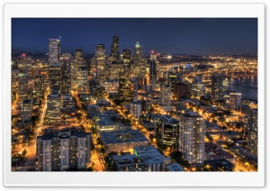 Seattle At Night From The...