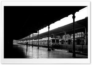 Train Station Black And White