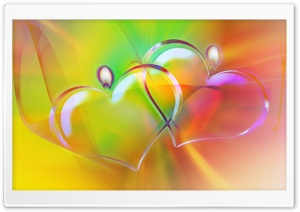 Colorful Heart Candles