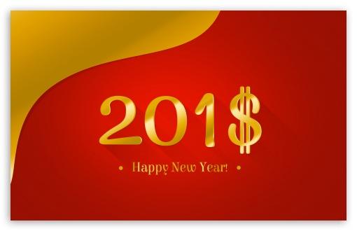 Download Happy New Year 2018 Money UltraHD Wallpaper