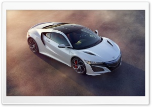 Acura NSX Coupe White Car
