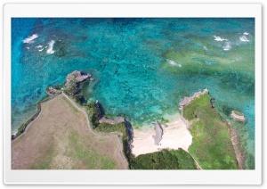 Okinawa Island, Japan, Aerial...