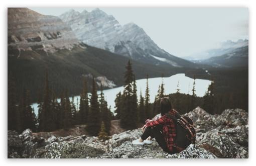 Download Girl, Travel, Mountains, Adventure UltraHD Wallpaper