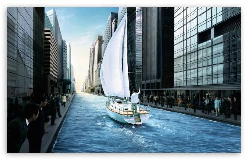 Download Boating UltraHD Wallpaper