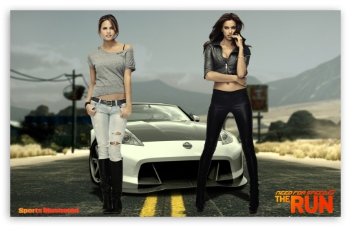 Download NFS The Run Sports Illustrated Models UltraHD Wallpaper