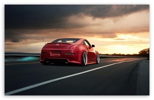 Download Nissan 350Z Red UltraHD Wallpaper