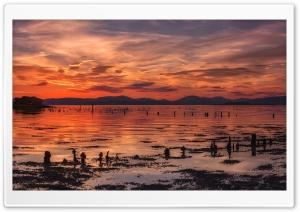 Beautiful Orange Sunset,...
