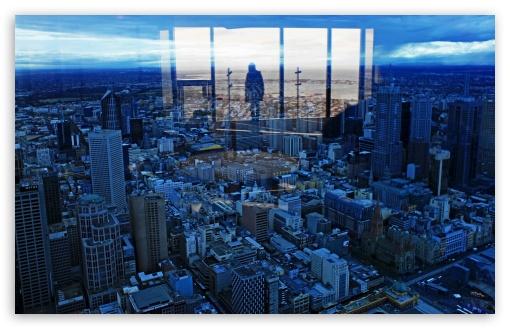 Download Glass Reflection UltraHD Wallpaper