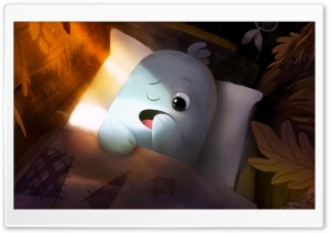 Cute Baby Monster Illustration