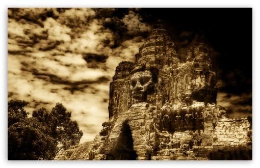 Download The Buddha King Of Angkor Wat, Cambodia UltraHD Wallpaper
