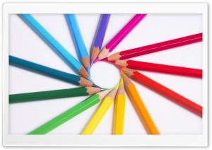 Rainbow Colored Pencils Macro