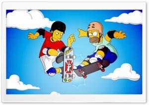 Homer And Tony Hawk