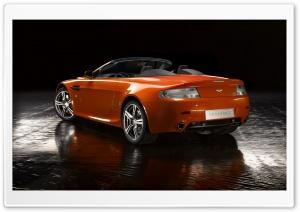 Orange Aston Martin Vantage...