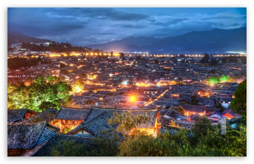 Download The Village Of Lijiang UltraHD Wallpaper