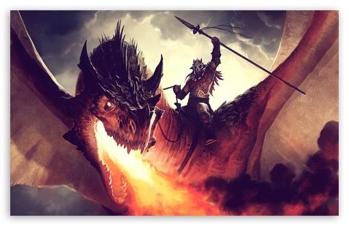 Download Fire-Breathing Dragon UltraHD Wallpaper