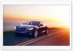 Tesla Model S Electric Car,...