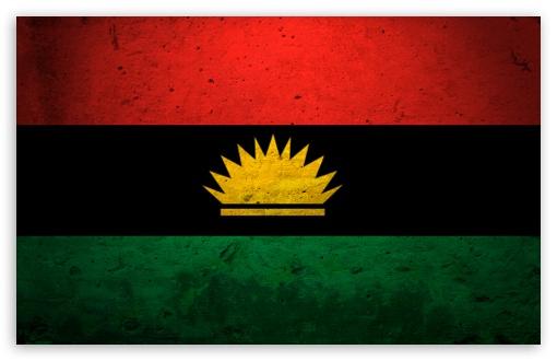 Download Grunge Flag Of Biafra UltraHD Wallpaper