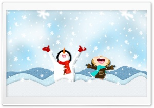 Snowing Illustration