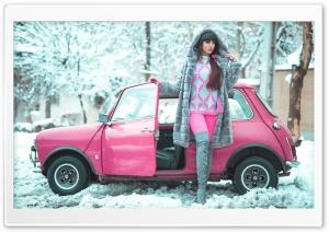 Beautiful Girl, Winter, Pink...