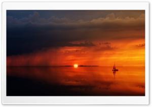 Sailing Trip, Sunset Background