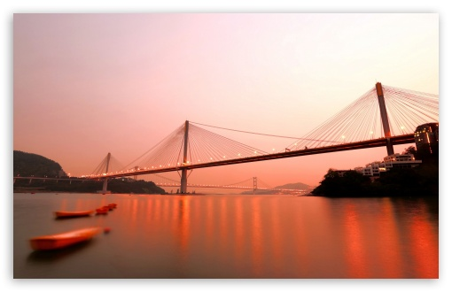 Download Bridge In Hong Kong UltraHD Wallpaper