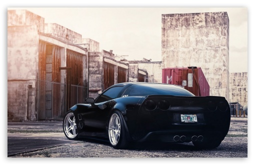 Download Black Corvette UltraHD Wallpaper