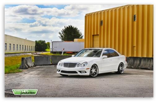 Download Mercedes Benz E350 I Stitched Production... UltraHD Wallpaper