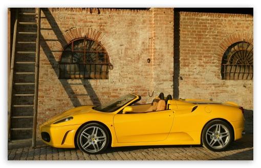 Download Ferrari F430 Spider Yellow UltraHD Wallpaper
