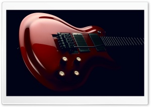 Red Electric Guitar Body