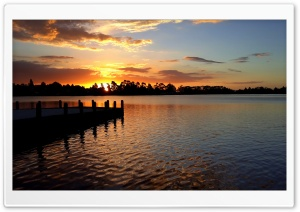 Hamilton lake. New Zealand