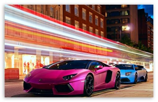 Download Lamborghini Cars City UltraHD Wallpaper