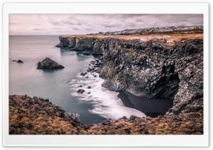 Columnar Basalt Coast Iceland