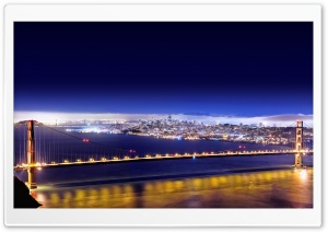 Golden Gate At Night, HDR
