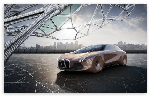 Download BMW Vision Next 100 Concept Car UltraHD Wallpaper
