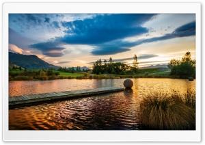 Golden Sunset Reflection