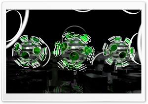 Focused Spheres - Green