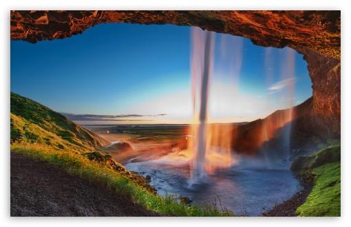 Download Arch Waterfall UltraHD Wallpaper