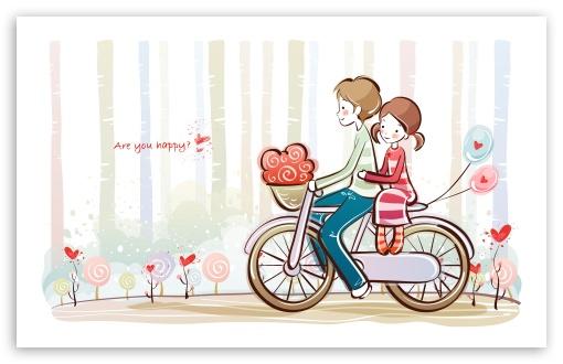 Download Cute Valentine Couple UltraHD Wallpaper
