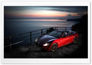 Red Maserati Gancabrio