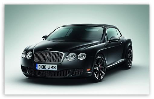 Download Bentley Continental GTC Black UltraHD Wallpaper