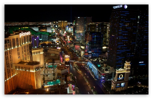 Download Las Vegas at Night UltraHD Wallpaper