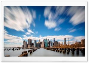 Skyscrapers, USA, Clouds
