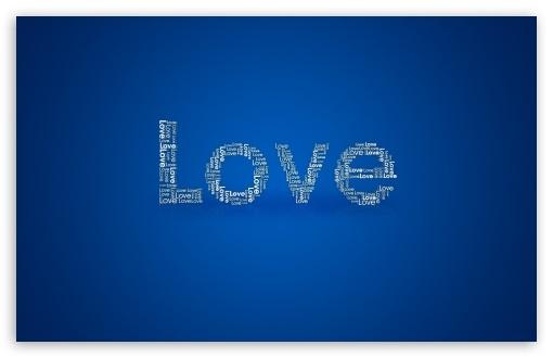 Download Typography Love UltraHD Wallpaper