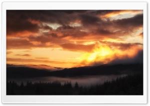 Sunrise over the Trossachs