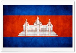 Grunge Flag Of Cambodia