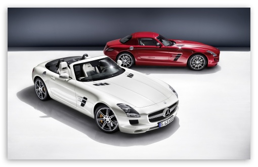 Download Mercedes SLS AMG Convertible UltraHD Wallpaper